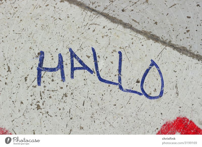 Graffiti HALLO Style Leisure and hobbies Art Work of art Painting and drawing (object) Town House (Residential Structure) Facade Sign Characters Aggression