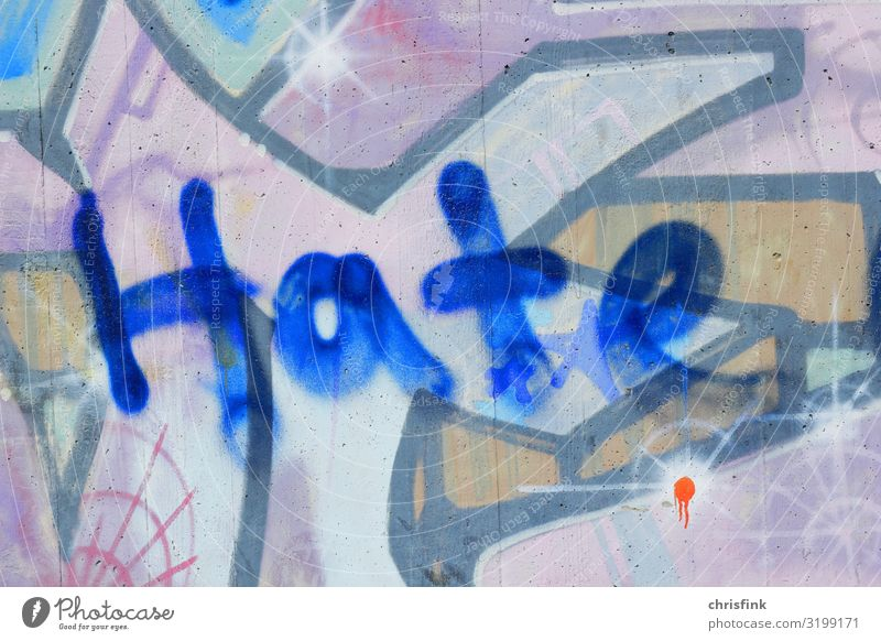 Hate Graffiti Lifestyle Leisure and hobbies Decoration Art Artist Painter Traffic infrastructure Tunnel Bridge Write Aggression Dirty Hideous Multicoloured