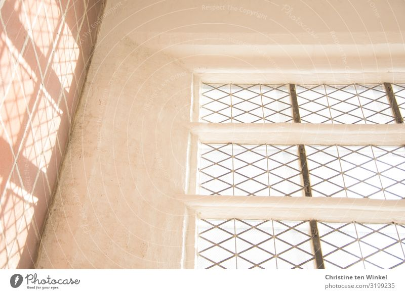 Church window with light and shadow / St. Petri zu Lübeck Wall (barrier) Wall (building) Window Esthetic Bright Above already Warm-heartedness Perspective