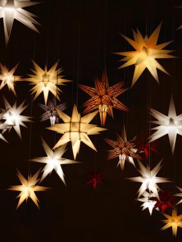 shining advent stars - sidereal hours Christmas & Advent Advent stars Star (Symbol) Christmas decoration Christmas star Christmas fairy lights Illuminate