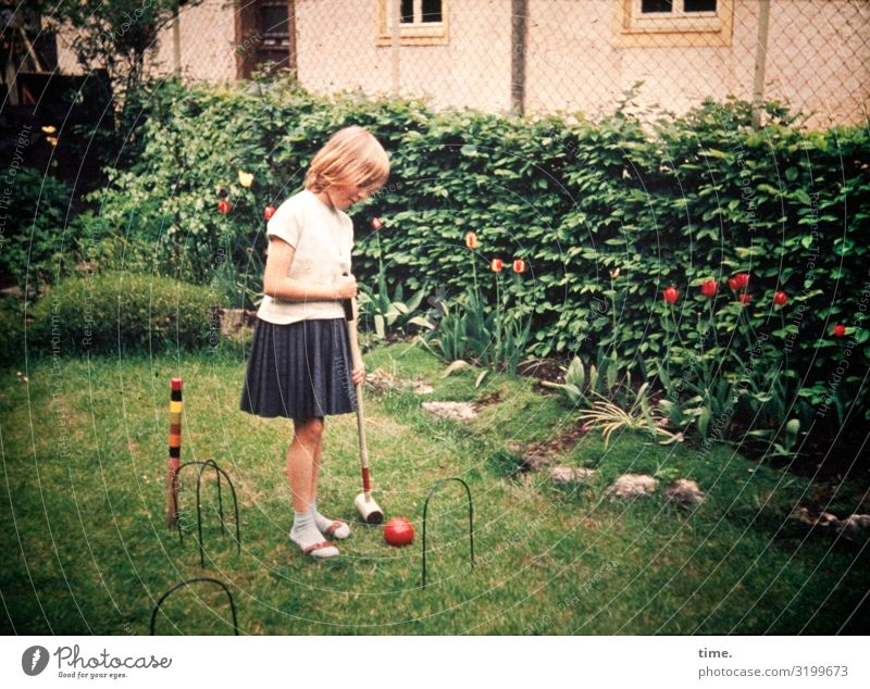 Human being House (Residential Structure) Girl Lanes & trails Feminine Meadow Sports Garden Playing Think Blonde Infancy Stand Observe To hold on Tradition