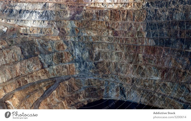 Mining terraces in Riotinto, Huelva Mountain Terrace riotinto Sulphur Geology Hill Sediment Copper Rio de Janeiro Mine Spain Andalusia Pyrite Natural