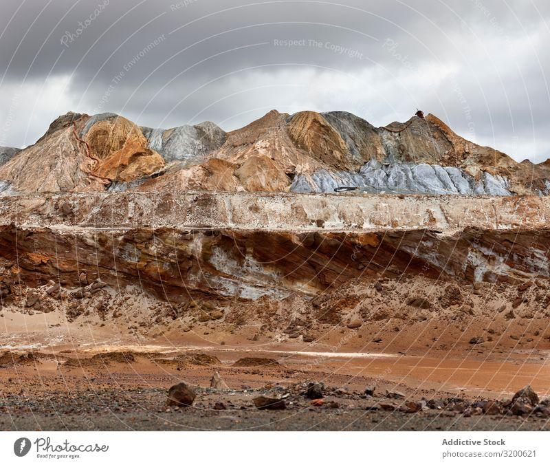 Amazing mountain mining landscape in Riotinto Landscape Nature Industrial Hill Geology Majestic Huelva Beautiful Vacation & Travel Mountain Mining Rock