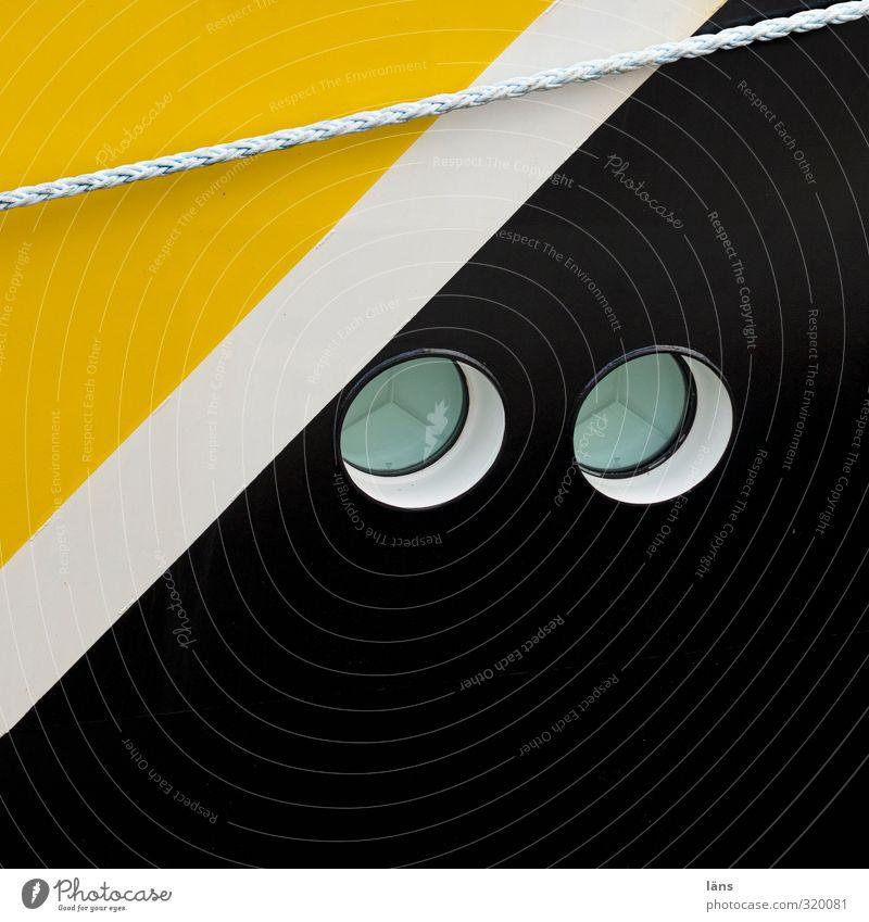 White Colour Black Yellow Watercraft Rope Porthole