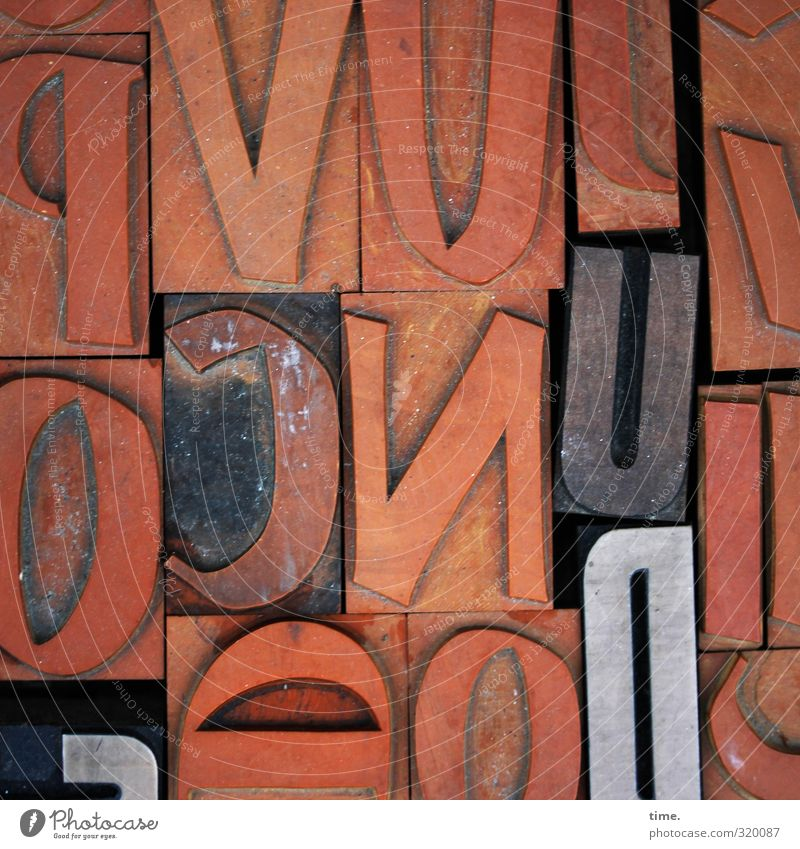 Old Art Brown Orange Characters Esthetic Letters (alphabet) Historic Plastic Media Concentrate Services Craft (trade) Sustainability Sharp-edged Stamp