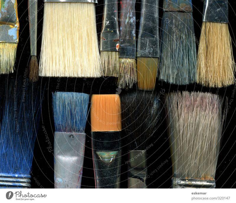 brush Art Culture painting Painting (action, artwork) Atelier Artist's werkstatt Paintbrush bristle brush Esthetic Authentic Near Many Black Design Idea