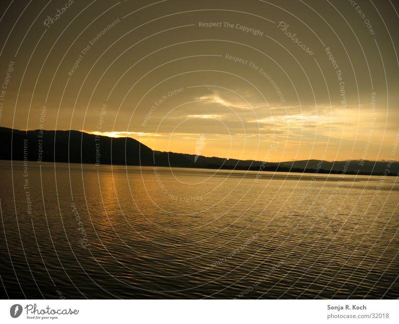 sunset Sunset Calm Lake Lake Kochelsee Water Evening