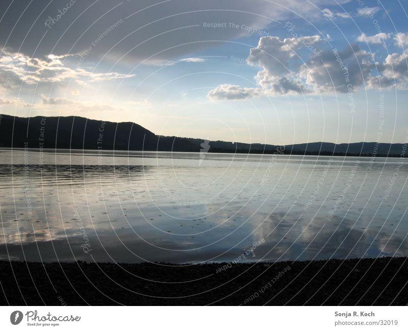 summer rain Summer Clouds Reflection Lake Rain Calm Lake Kochelsee Water