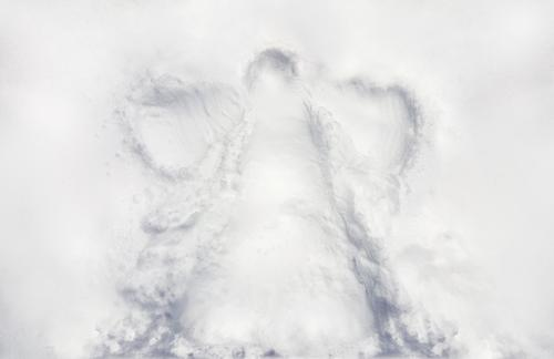 a childs snow angle on virgin snow winter holiday season Child Nature Christmas & Advent Beautiful Landscape Winter Life Love Natural Snow Feasts & Celebrations