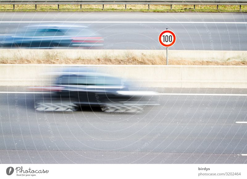 100, the Netherlands shows the way Climate change Germany Transport Road traffic Motoring Highway Car Signs and labeling Signage Warning sign Road sign Driving