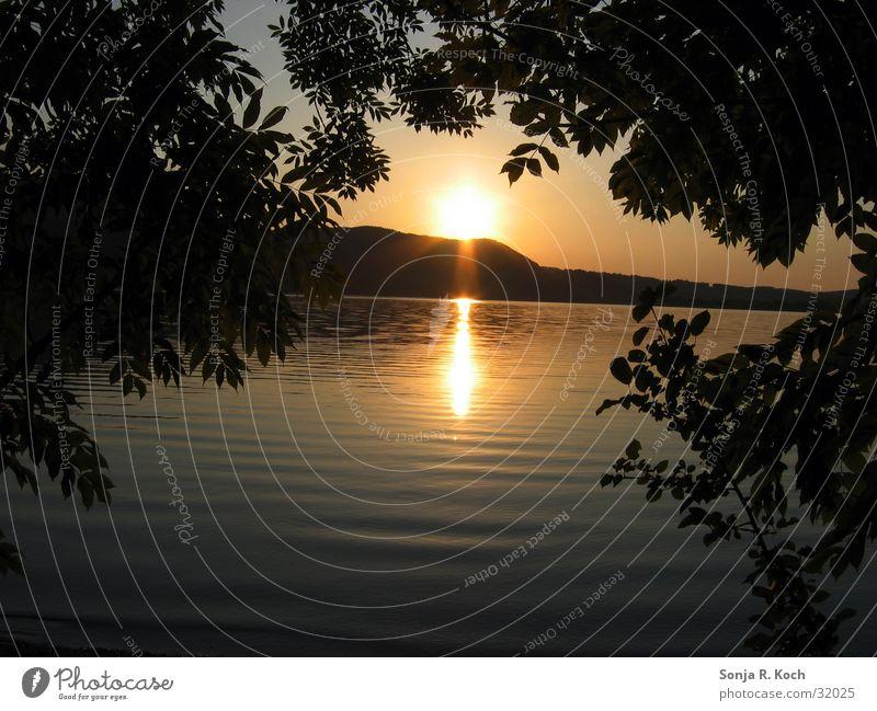 Water Sun Calm Idyll Dusk