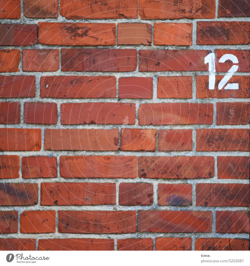 12 daylight Colour Orientation Information number oldstyle Wall (barrier) lines Stripe Red Brick House (Residential Structure) mark