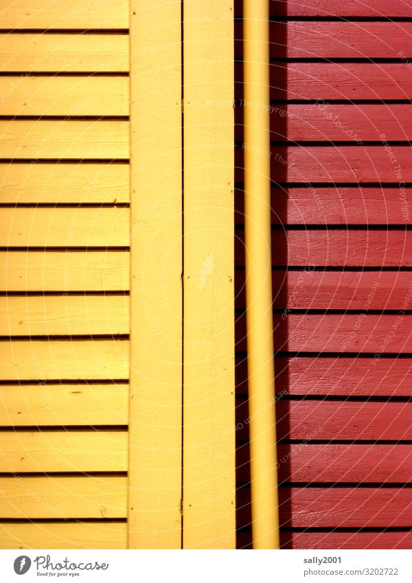 yellow-red... Scandinavia Sweden Norway House (Residential Structure) Wall (barrier) Wall (building) Facade Wood Esthetic Happiness Multicoloured Yellow Red