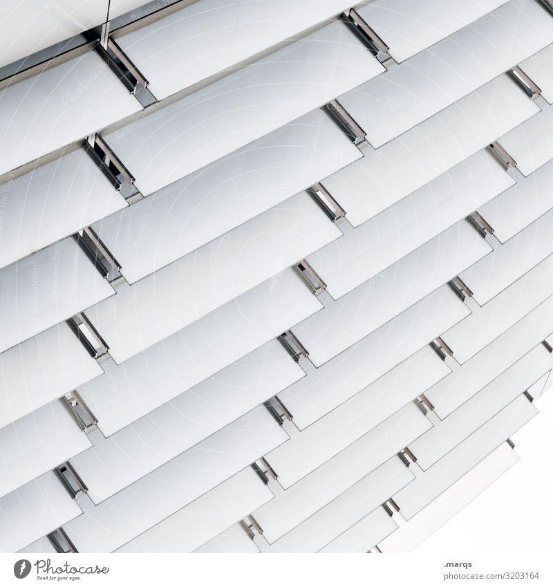 slats Design Architecture Facade Disk Plastic Line Bright White Accuracy Arrangement Perspective Future Illustration Consistent Colour photo Exterior shot