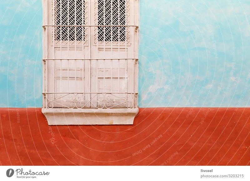 window in green and red wall, santiago de cuba - cuba Art Architecture Culture Small Town House (Residential Structure) Wall (barrier) Wall (building) Facade