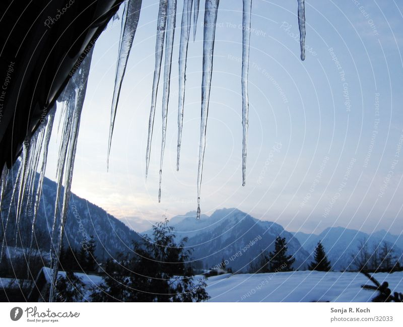Icicle II Cold Ice Frozen Winter Mountain Water Snow beautiful view