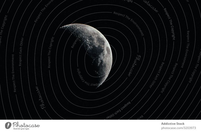 Shady moon in black sky Moon Half Night Dark Shadow Cover Sky Universe Nature Mystery Landscape phase Hide Peace Volcanic crater Astronomy Galaxy Gray lunar