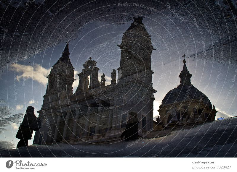Church in Puddle Capital city Downtown Populated Dome Manmade structures Building Architecture Tourist Attraction Landmark Monument Old Threat Famousness