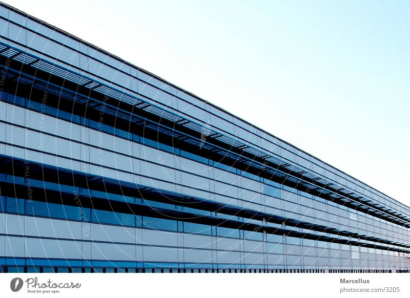 buildings New building House (Residential Structure) Architecture Perspective Blue