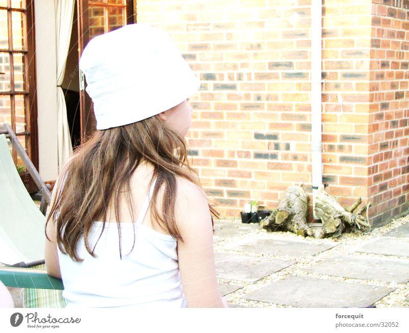 look away Girl Woman back head has