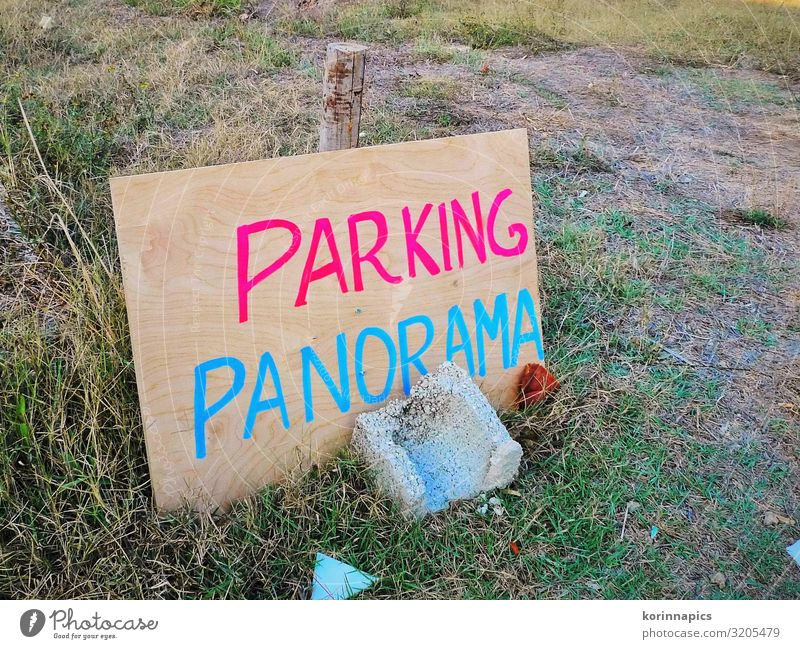 Parking Panorama Transport Traffic infrastructure Road traffic Motoring Street Clearway Parking lot Search for a parking space Lack of parking spaces Wood