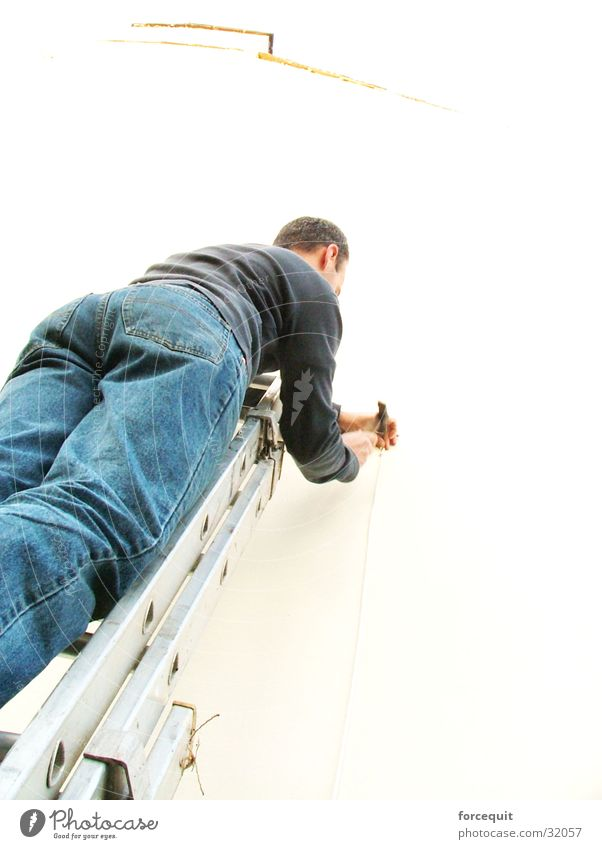 Working up the ladder Industry work man