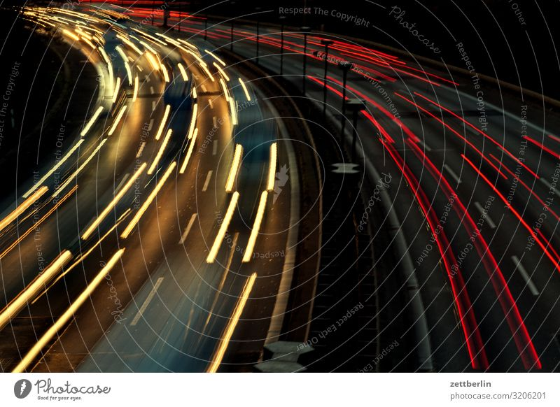 curve Car Highway Driving Vacation & Travel Movement Curve Deserted Travel photography Speed Tracks Lane change Traffic jam Risk of accident Road traffic