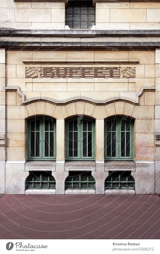 buffet Buffet Brunch Tourism Sightseeing Restaurant Gastronomy Rouen Deserted Train station Architecture Facade Window Characters Ornament Historic