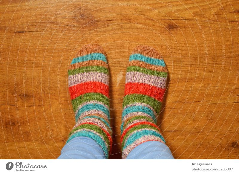Wool socks Lifestyle Living or residing Flat (apartment) Human being Feminine Woman Adults Legs Feet 1 Fashion Stockings knitted socks Knitted Cuddly Warmth