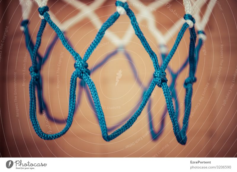 basket Leisure and hobbies Playing Sports Fitness Sports Training Ball sports Sporting Complex Knot Net Blue Orange White Basketball Basketball basket Rope