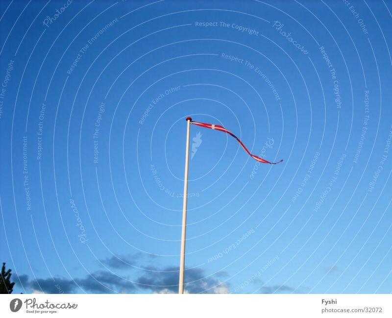Danish flag Flag Denmark Sky Blue Wind Flag of Denmark