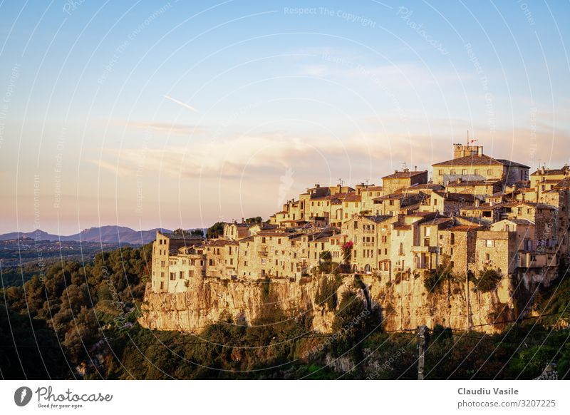 Tourrettes-sur-Loup a perched village at sunrise Vacation & Travel Tourism Adventure Sightseeing Summer Summer vacation Cote d'Azur French Riviera France
