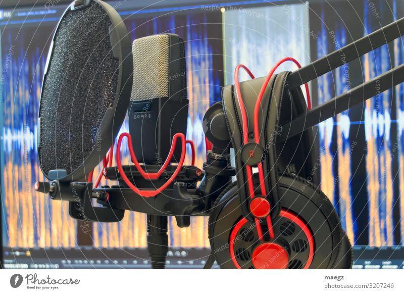 Red Black To talk Modern Music Computer Listening Film industry Headphones Screen Microphone Musician Video Software Singer Listen to music