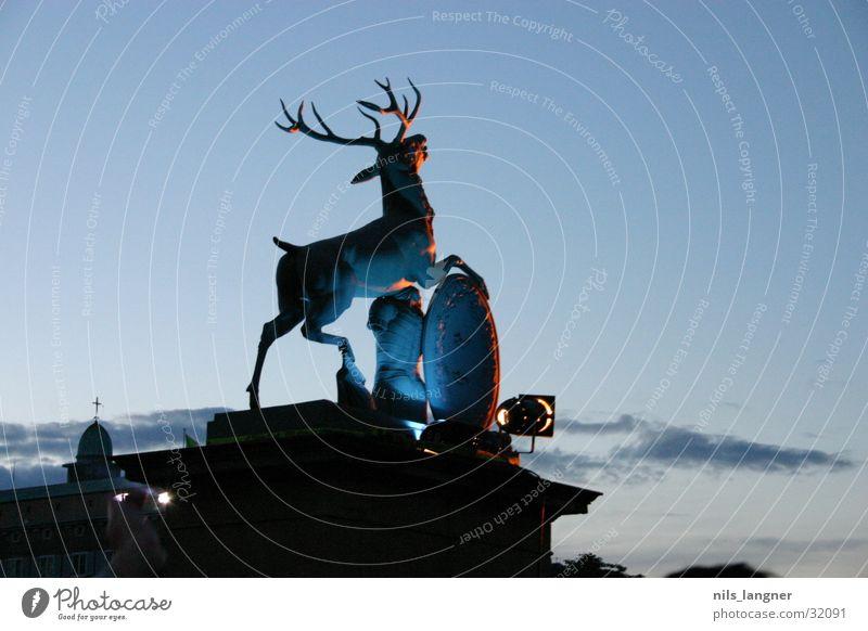 Deer Scream 1 Stuttgart Dark Baden-Wuerttemberg Transport Evening Blue Castle place swr3 arena of sound