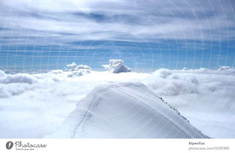 launch pad Clouds Climate Climate change Beautiful weather Ice Frost Alps Mountain Peak Snowcapped peak Glacier Cool (slang) Fantastic Cold Joy Happy Happiness