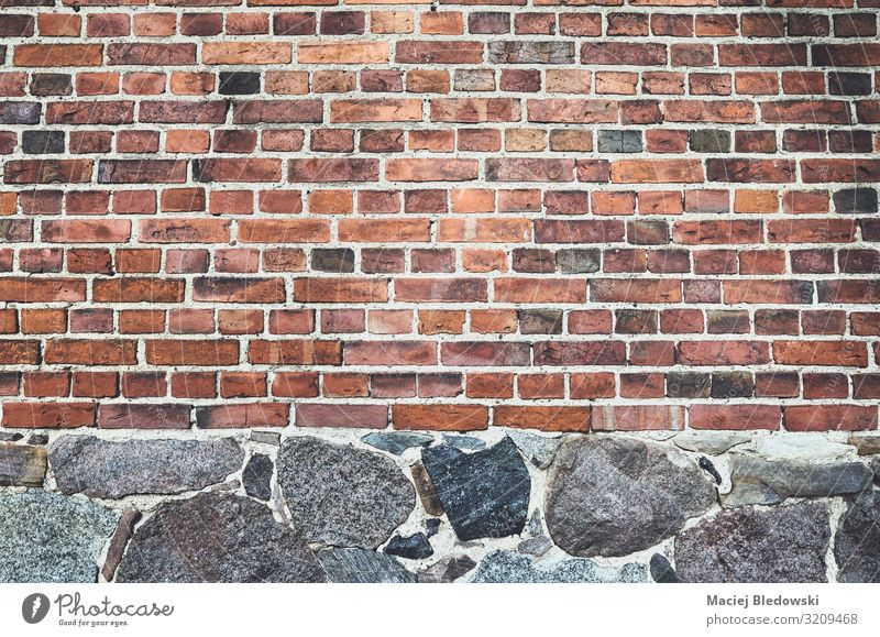 Ancient wall made of bricks and stones Wallpaper Rock Old town House (Residential Structure) Castle Ruin Wall (barrier) Wall (building) Facade Stone Brick