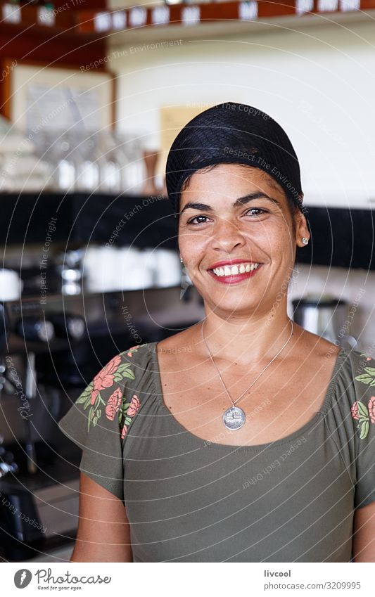 Waitress serving coffee in Las Terrazas, Artemisa - Cuba Woman Human being Vacation & Travel Nature Beautiful Green House (Residential Structure) Joy Black Face
