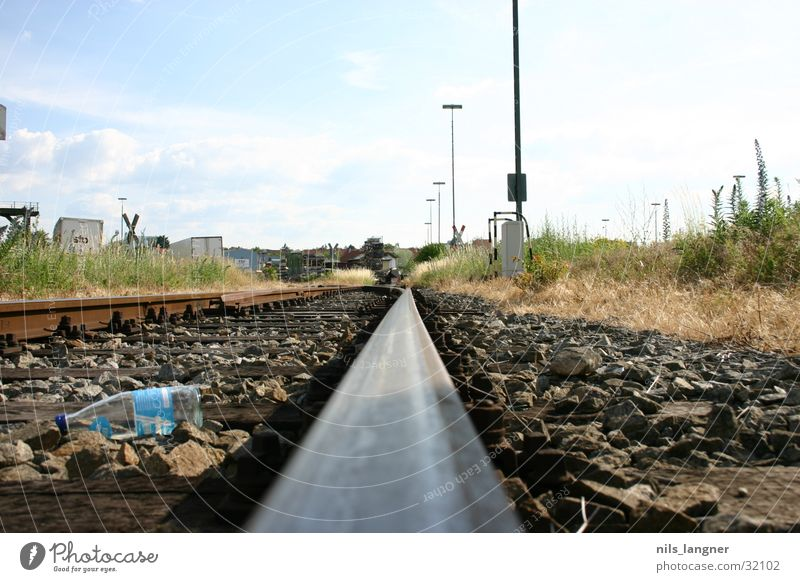 Horizon Railroad Railroad tracks Train station Freiburg im Breisgau