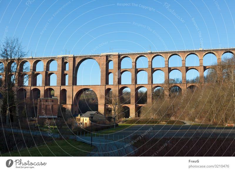 constructive | railway viaduct Bridge Traffic infrastructure Railway bridge brick bridge bows Manmade structures Historic Buildings Old Architecture
