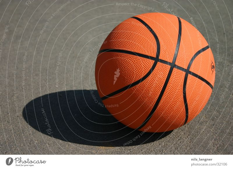 i love this game Sports Basketball Ball Orange Floor covering Shadow