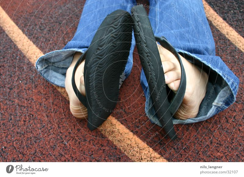 Feet Jeans Basketball Flip-flops