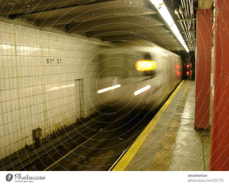 Subway F, NYC Underground Highway ramp (entrance) Long exposure Transport