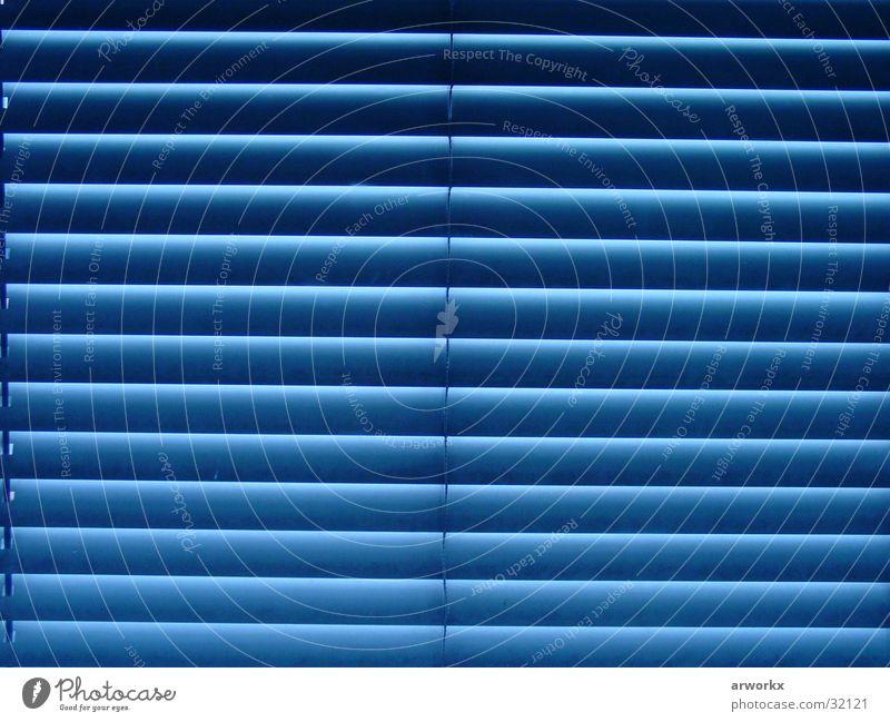 blue window Window Venetian blinds Fantastic Beautiful Living or residing Blue Graffiti