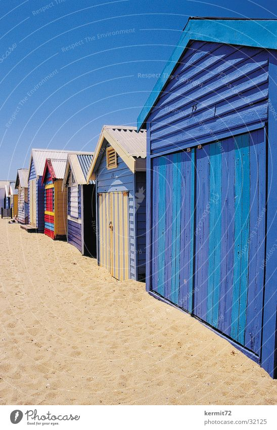 Sun Beach Vacation & Travel Sand Painting (action, work) Australia Blue sky Wooden hut