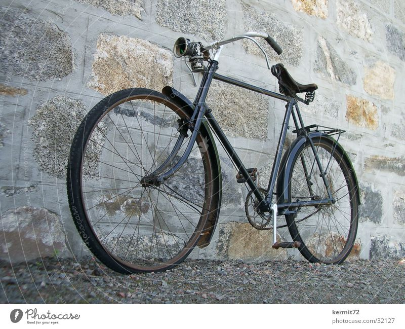 Old Black Bicycle Transport Technology Derelict Vintage car Classic Electrical equipment