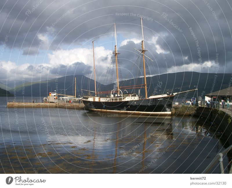 Water Sky Ocean Lake Watercraft Harbour Gale Sailing ship Dark clouds
