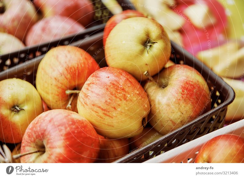 Healthy Eating Plant Red Yellow Fruit Success Delicious Discover Harvest Apple Mature Expectation Basket
