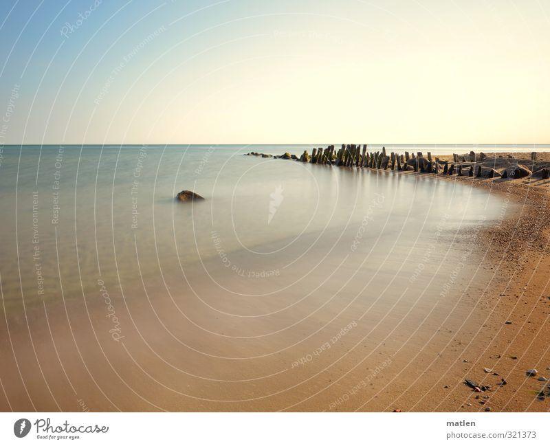 Sky Nature Blue Water Sun Landscape Beach Coast Stone Sand Horizon Brown Weather Beautiful weather Baltic Sea Break water