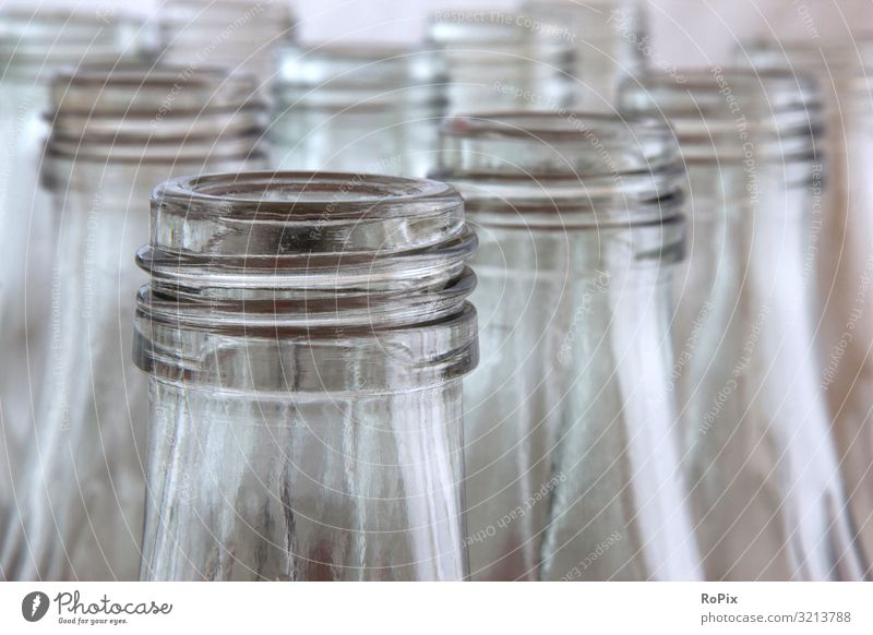 Row of returnable glass bottles. Beverage Drinking Bottle Glass Lifestyle Style Design Healthy Healthy Eating Wellness Work and employment Profession Workplace