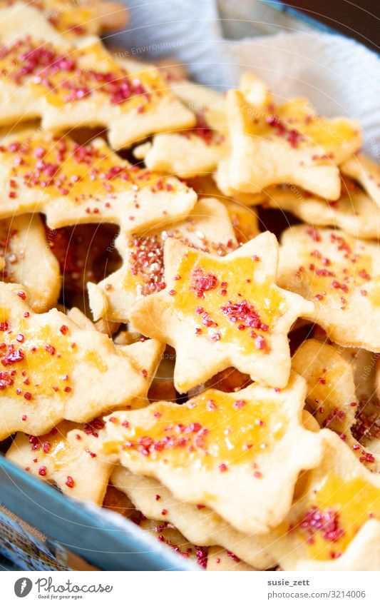 Homemade butter cookies with metallic sugar sprinkles Food Dough Baked goods Dessert Candy Nutrition To have a coffee Eating Feasts & Celebrations